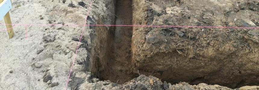 entreprenør gravearbejde udgravning til fundamenter