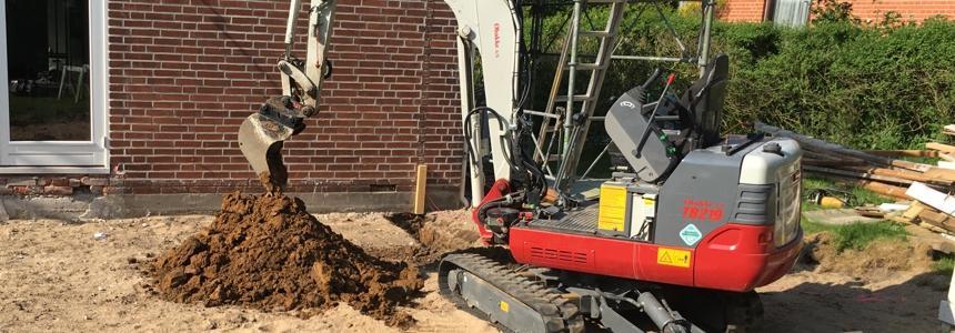 Alt gravearbejde udføres med minigraver, minilæsser, gravemaskine, rendegraver.